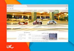 طراحی سایت هتل و اماکن گردشگری