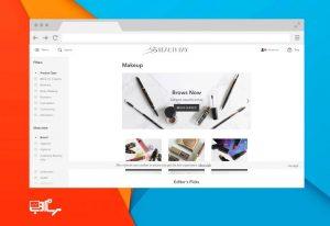 طراحی سایت زیبایی و ارایشی