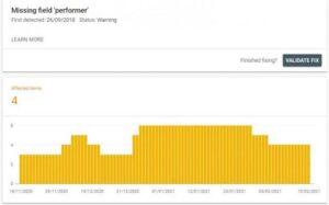 Search Console's Rich Results Report